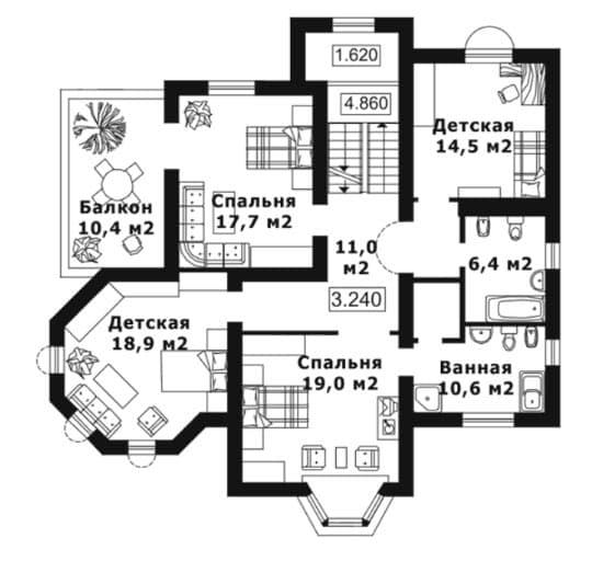 Планировка дома 13 на 13