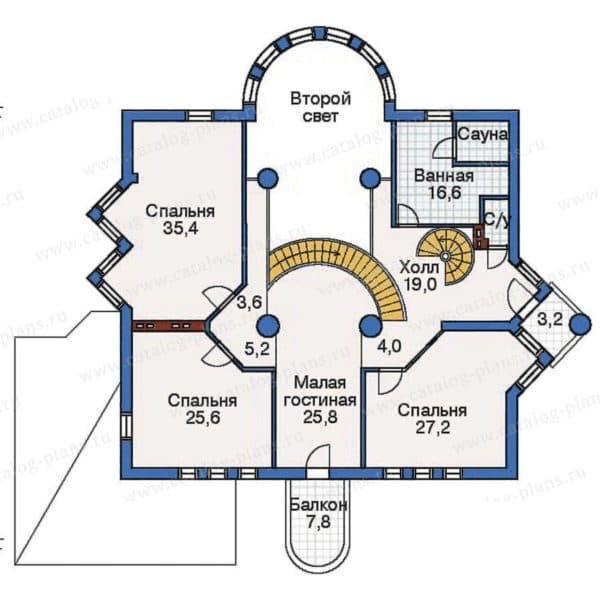 Планировка дома со вторым светом