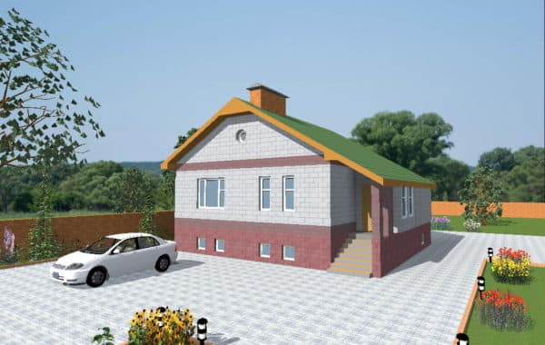 Дом 7 на 7 с цоколем