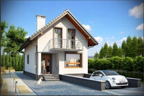 Дом с гаражом в цоколе