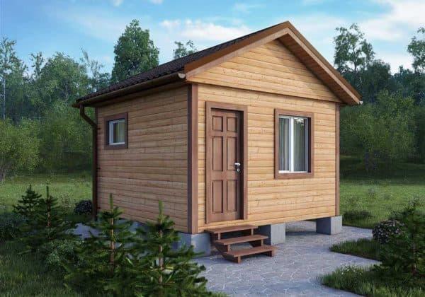 Одноэтажный дачный дом 4 на 4