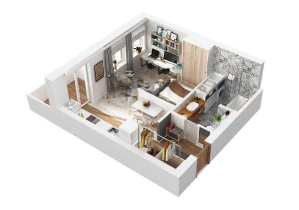 kvartira_ квартиры 40 кв м
