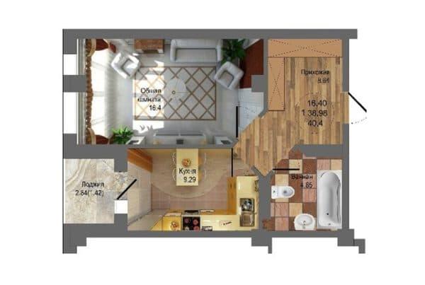 kvartira_ квартиры 40 кв м_3