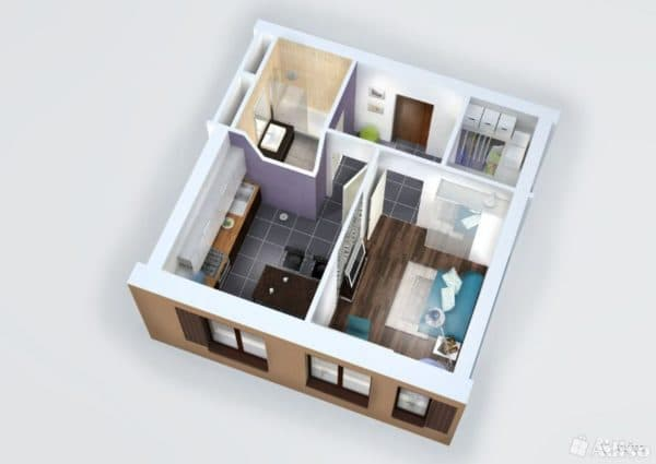 Планировка квартиры 35 кв. м