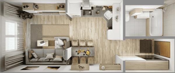 Планировка квартиры 35 кв. м_5