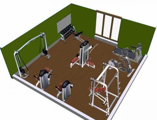 Планировка спортзала дома