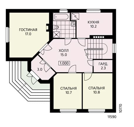 Проект дома буквой Г
