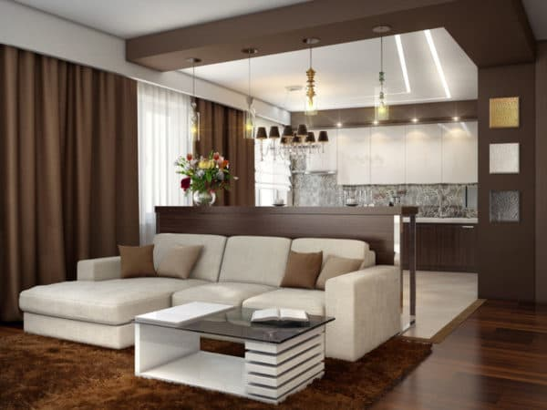 Г-образная расстановка мебели