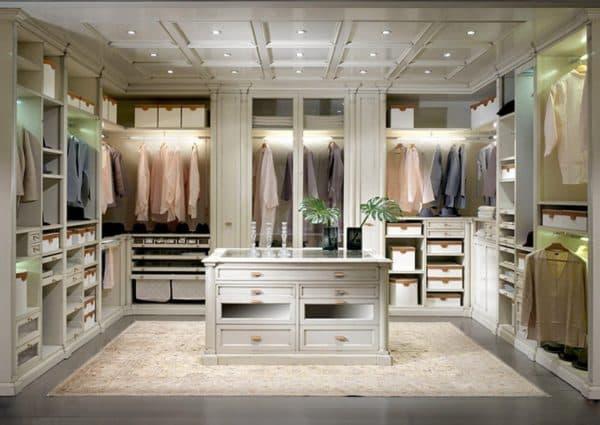 классический стиль гардеробной