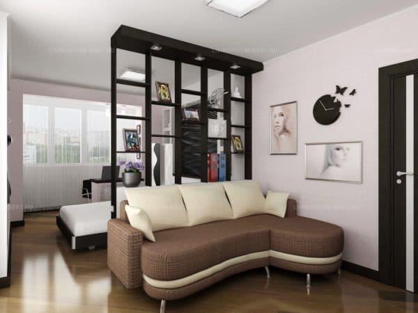 Зонирование спальни-гостиной 5