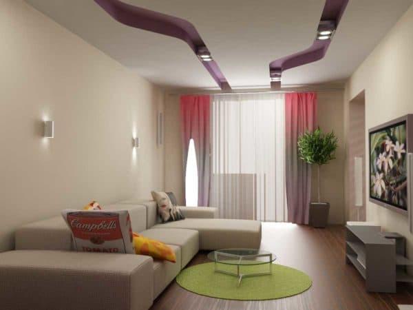 Гостиная в стиле минимализм_2
