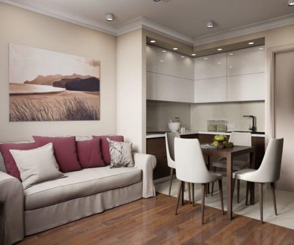 Кухня-гостиная 15 кв. м