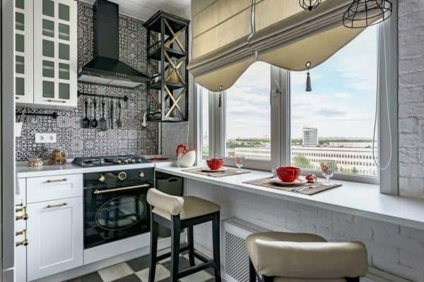 отделка кухни-гостиной 12-13 кв. м
