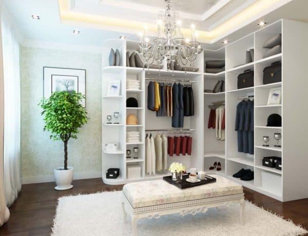 угловая планировка гардеробной