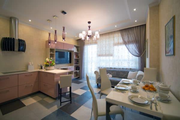 Планировка кухни-гостиной 17 кв. м_3