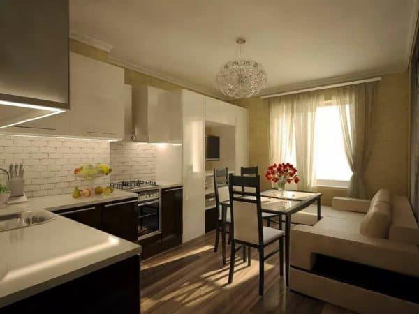 Планировка пространства на кухне