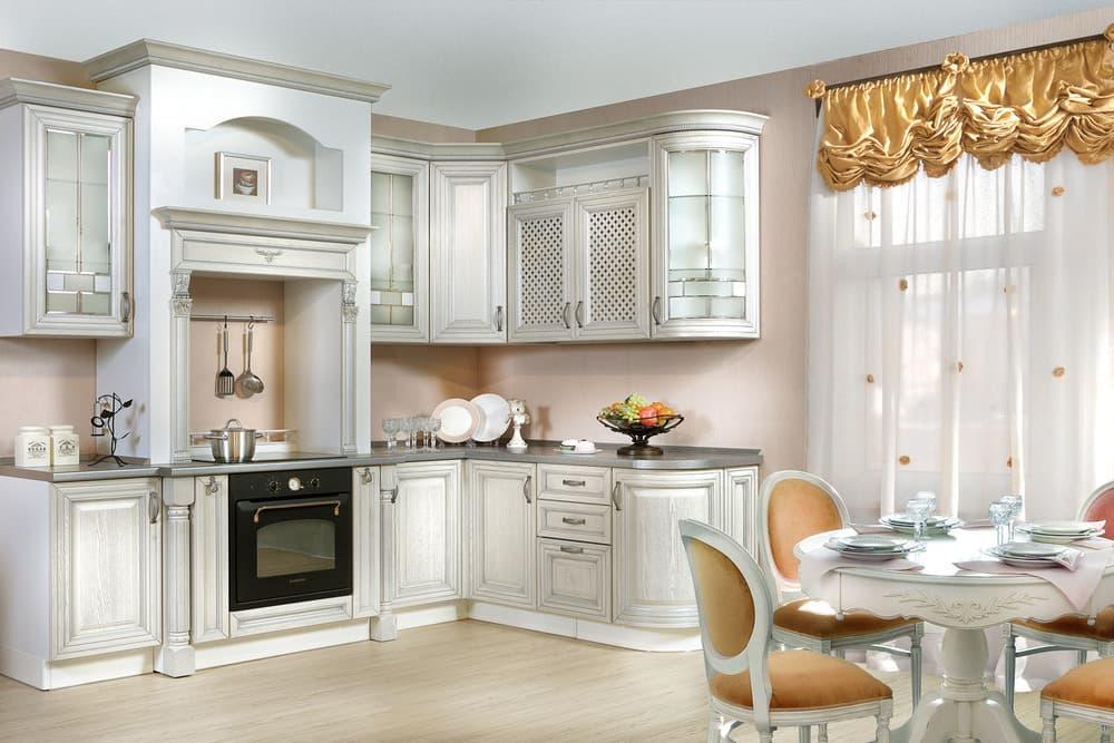 Кухня светлая классика