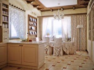 Текстиль в интерьере кухни 3