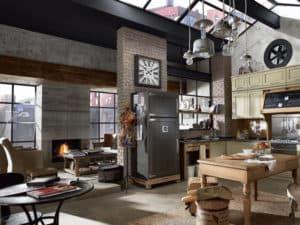 Зонирование кухни в стиле лофт