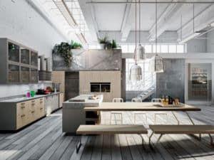 Проектирование кухни в стиле лофт