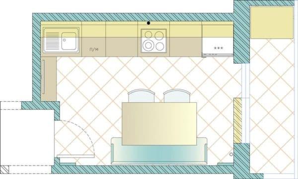 План небольшой кухни