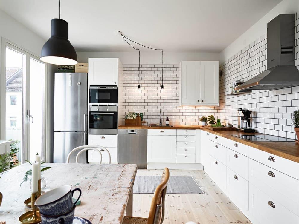 Кухня в стиле скандинавия