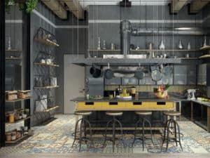 Проектирование кухни в стиле лофт 2