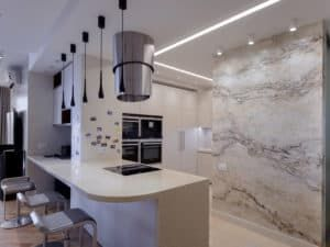 Декоративная штукатурка на кухне 1