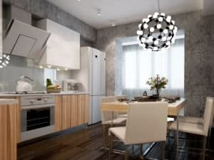 Декоративная штукатурка на кухне 2