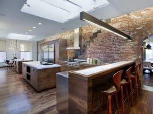 Зонирование кухни в стиле лофт 1