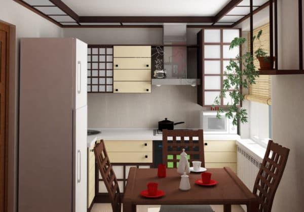 Маленькая кухня в японском стиле