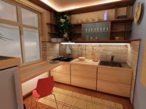 Дизайн малогабаритной кухни 2