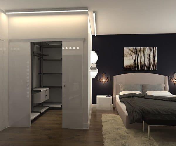 Проект гардеробной в спальне