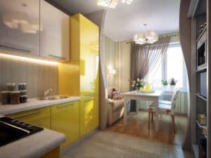 Пример зонирования кухни 1