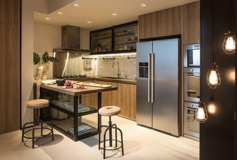 Планировка кухонной комнаты