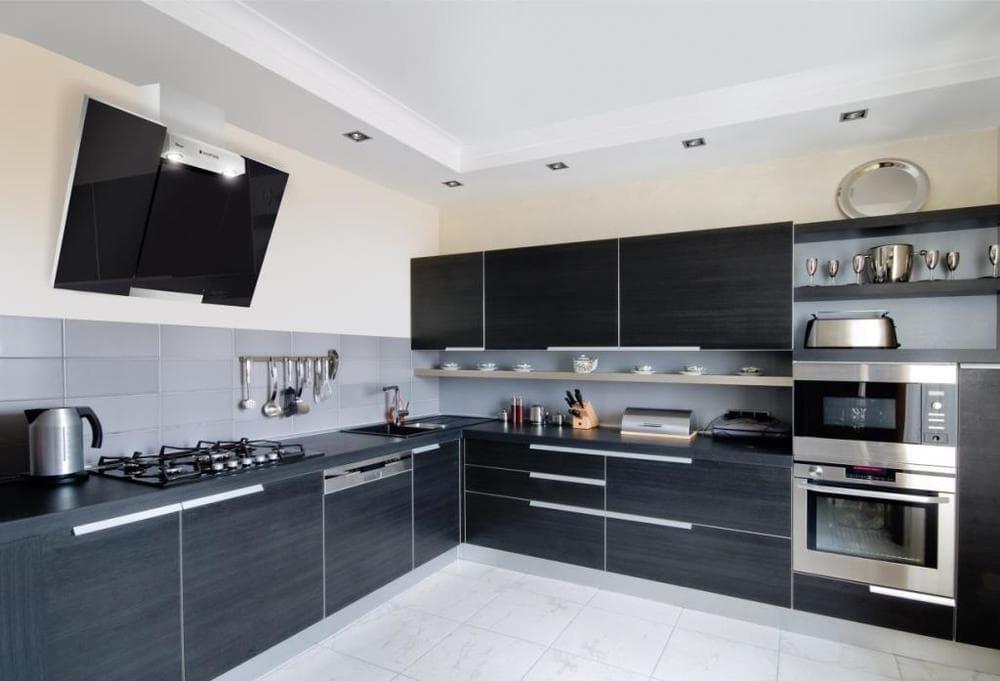 Кухня в стиле Модерн с островом