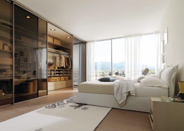 Расположение гардеробной в спальне_2
