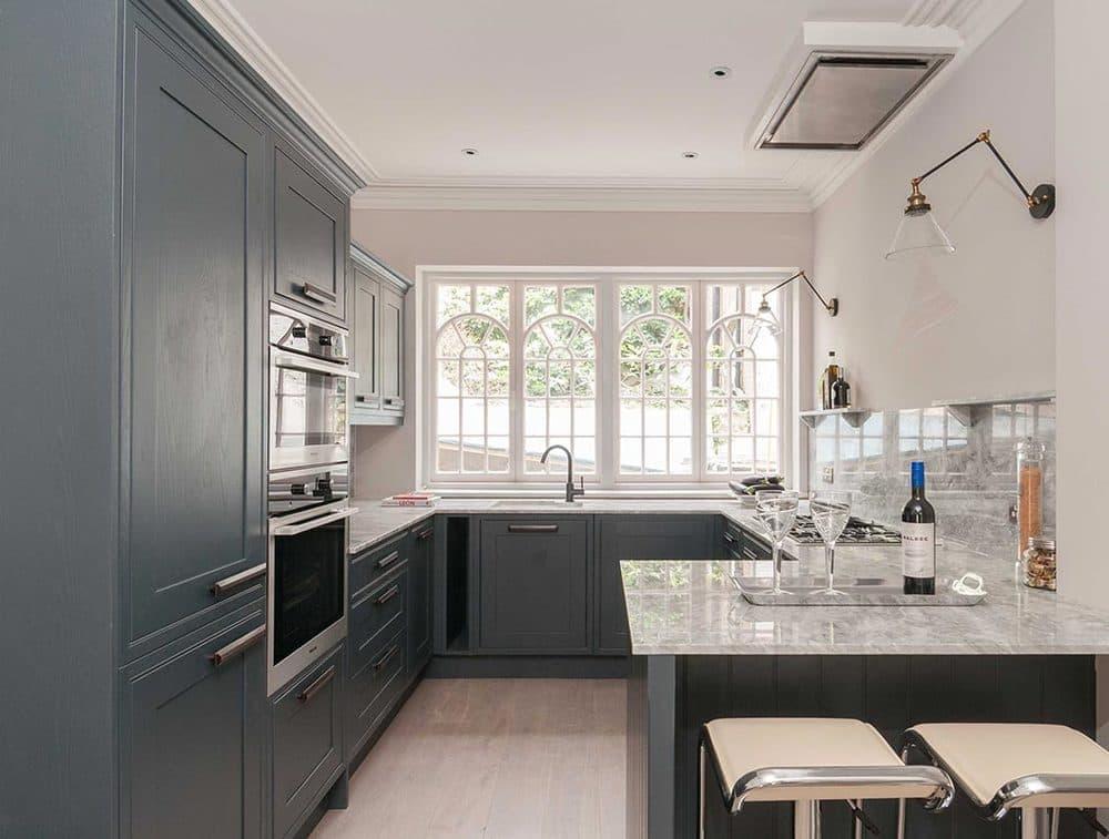 Дизайн П-образной кухни