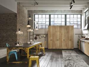 Интерьер кухни в стиле лофт 2