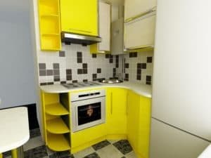 Салатовая маленькая кухня
