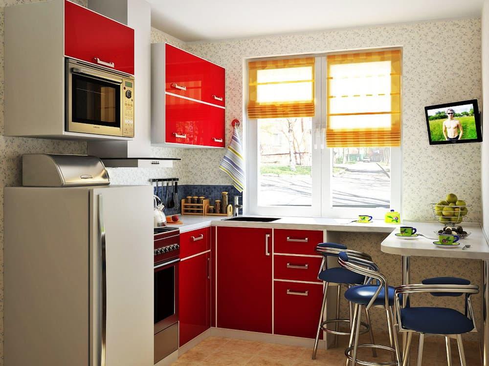 Планировка кухни 3 на 3