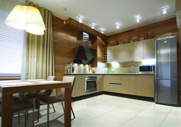 Кухонный гарнитур в углу