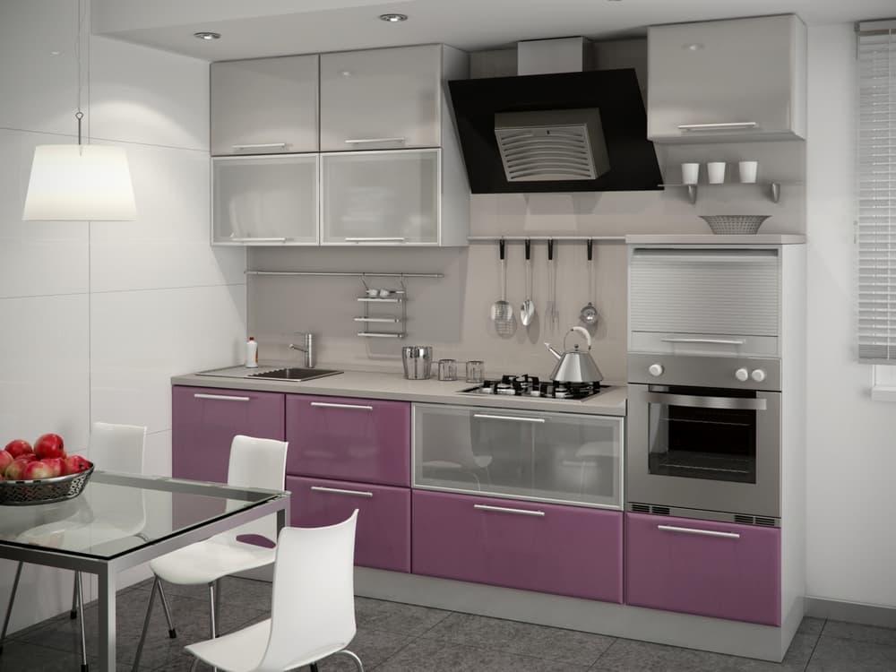 Прямая маленькая кухня