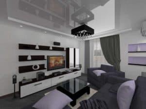 Гостиная 16 кв. м _ дизайн_3