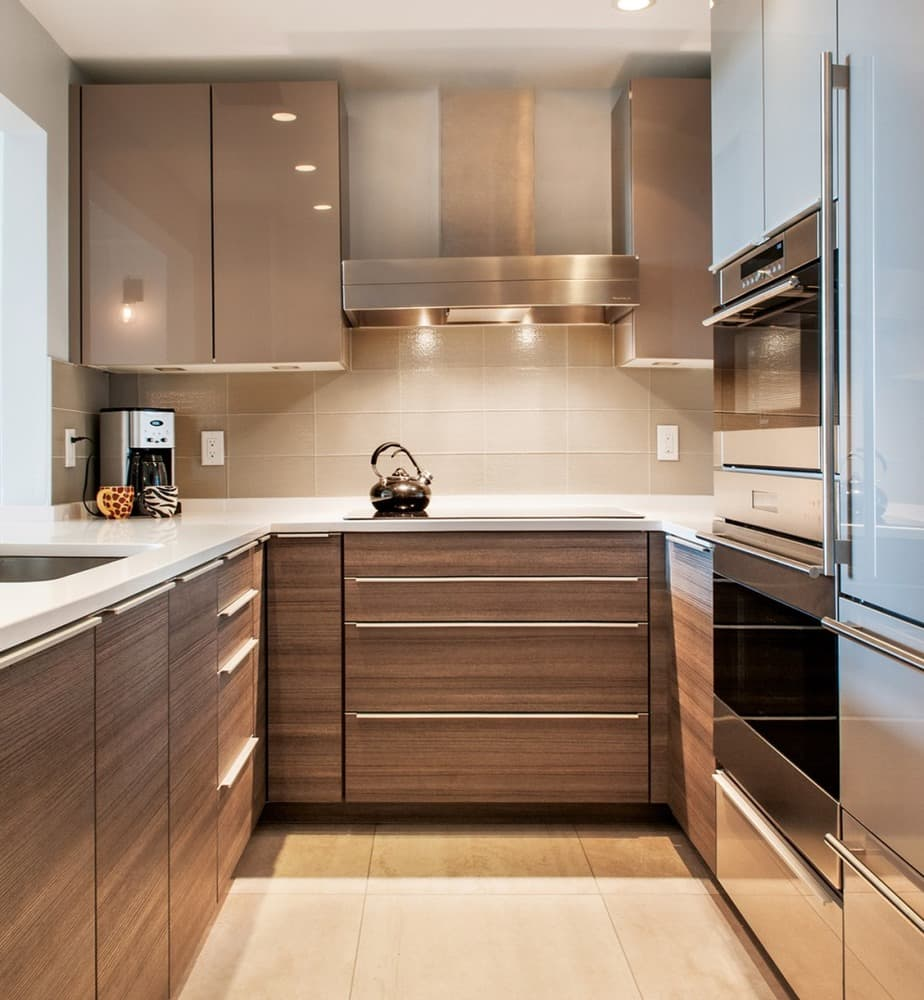 Маленькая кухня в дизайне лофт