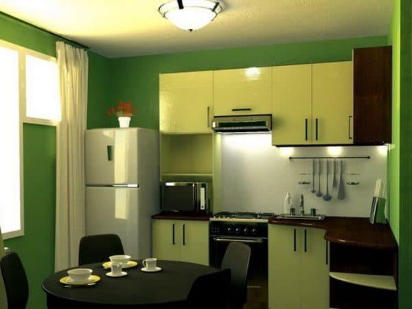 Красивые кухни 9 кв. м _1