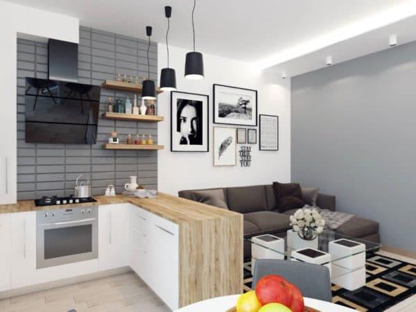 Примеры кухни 9 кв. м_5