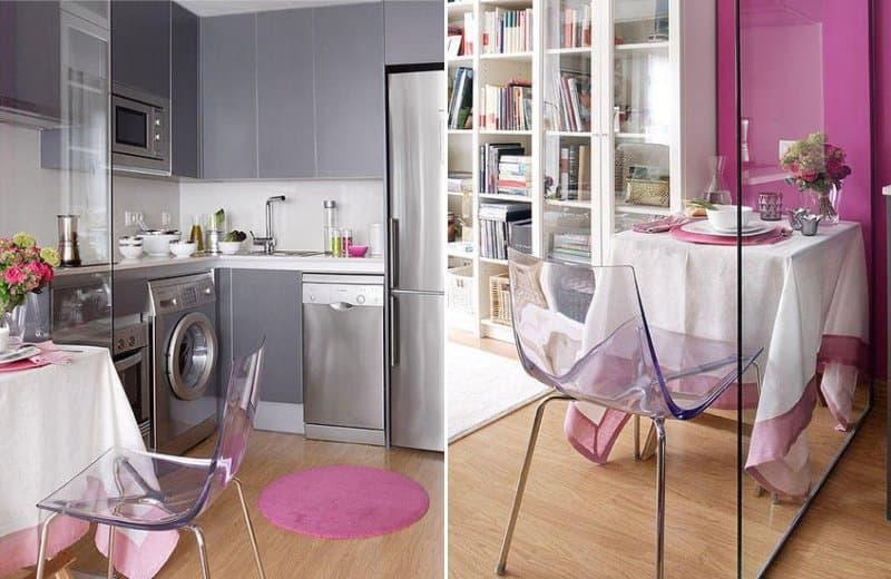 Кухня в цвете фуксия