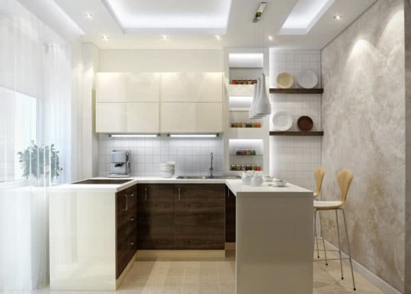 Основное освещение на кухне