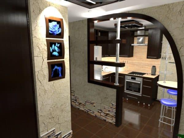 Отделка дверных проемов на кухне